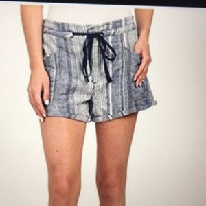 Blank NYC Drawstring  Chambray  Shorts.